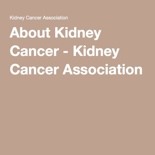 About Kidney Cancer - Kidney Cancer Association