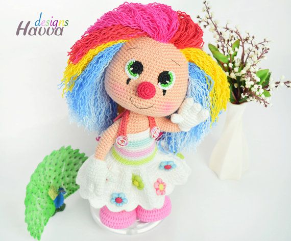 Downloadable Crochet Pattern Miss Clown Crochet Pinterest