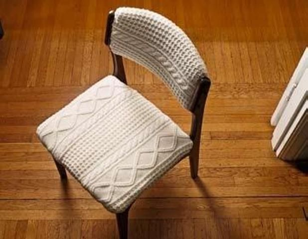 Do this for my dining chairs cover so kids do not mess up the chair. Upcycle Old Sweater Ideas - DIY and Crafts