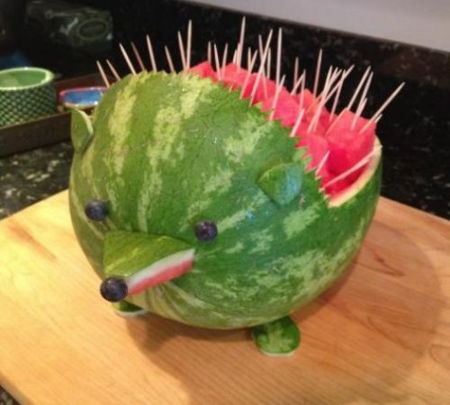 I may have a slight obsession with watermelon animals...