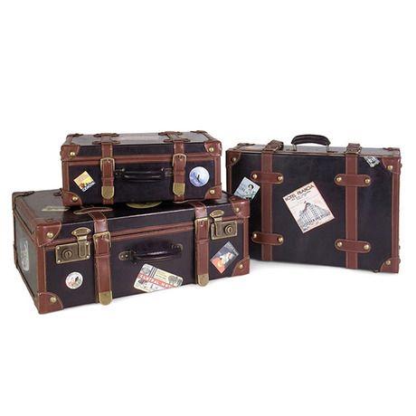 3-Pc. Vintage Luggage Set