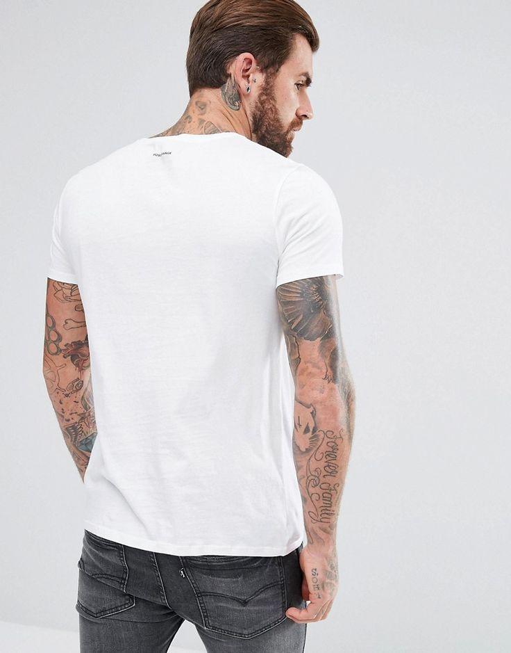 BOSS Orange by Hugo Boss Taboo Tattoo Hand Print T-Shirt in White - Wh