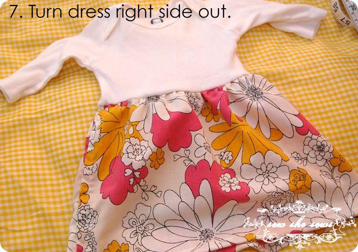 Altered Onesie Baby Dress Tutorial ...best one I have found so far!