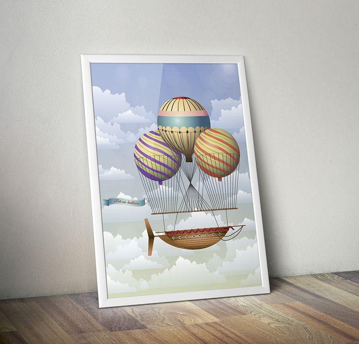 Illustration of steam punk skyship on Behance