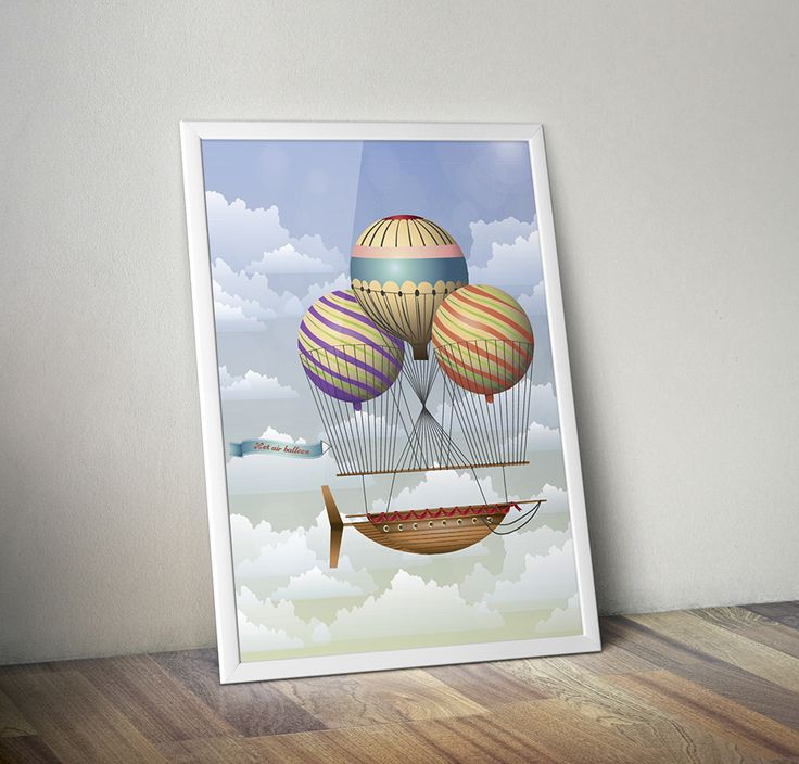 Illustration of steam punk skyship on Behance