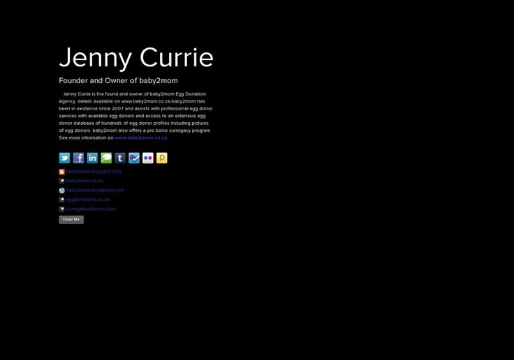 Jenny  Currie's page on about.me – http://about.me/baby2mom