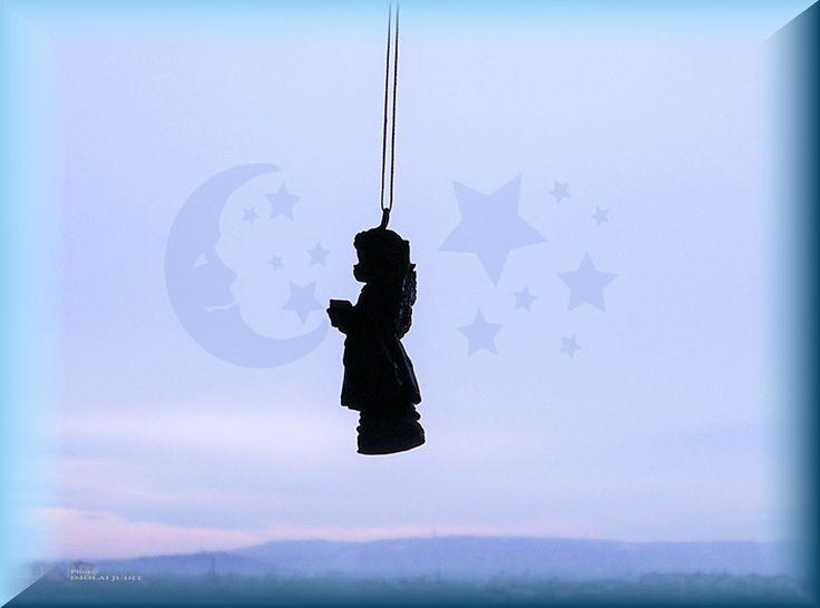 Angel, praying to the Moon