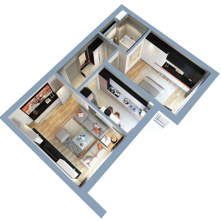Apartamente 2 camere - 20th Residence Regie Project - Apartamente noi de vânzare în zona Regie, Ciurel, Lacul Morii