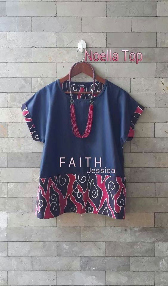 Batik blouse combined