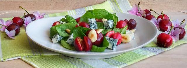 Frittomisto: cucina ed emozioni: Ciliegie in insalata con spinacino, gorgonzola pic...
