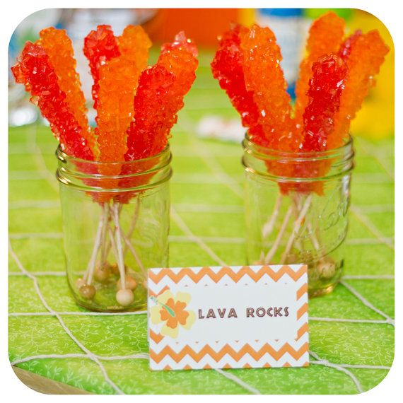 Luau Food Labels with 50 Food Names INCLUDED by KraftsbyKaleigh