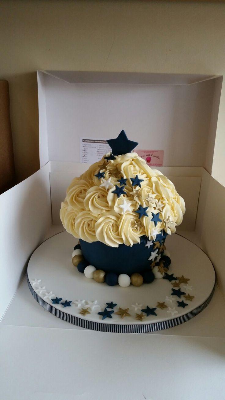 Shooting stars giant cupcake