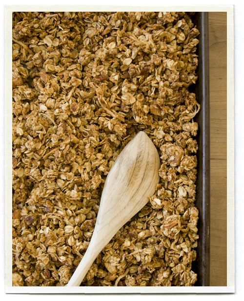 Homemade Granola. I estimated 60 servings at 5 pp per serving. Until I make it and know how much it makes that might change. It would be amazing on yogurt with berries.