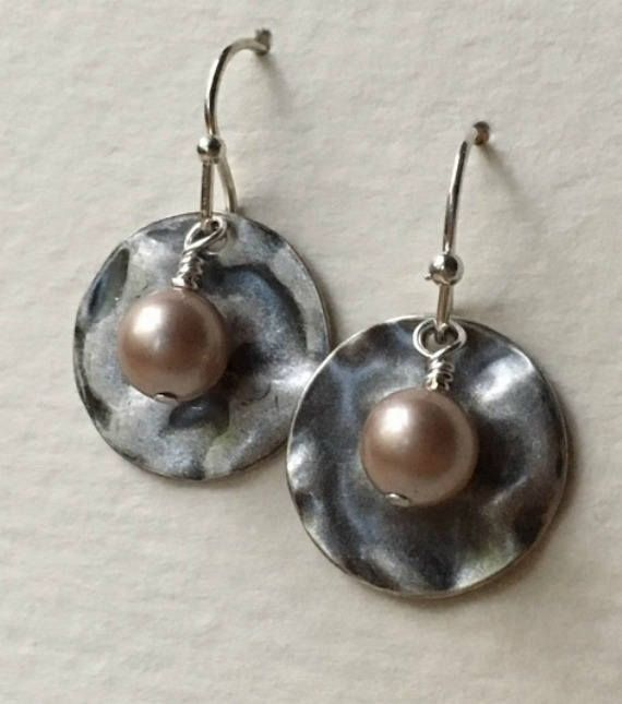Can't believe the price on these!     Unique earrings for everyday wear or going out - and a great price for gift giving!    Earrings | Silver and pearl earrings | Pearl earrings | Sterling plated earwires | Swarovski | Pearl drop earrings | Dangle earrings