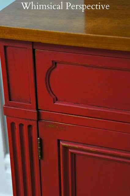 Emperor's Silk Chalk Paint® decorative paint by Annie Sloan on a beautiful chest   By Whimsical Perspective