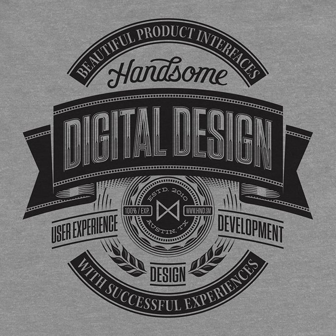 Gorgeous Vintage Era Type & Logo Designs by Ben Didier: Pretty/Ugly Design