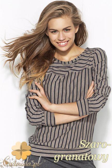 Kobieca bluza w paski z delikatnym dekoltem marki Alore.  #cudmoda #moda #odzież #styl #ubrania #clothes