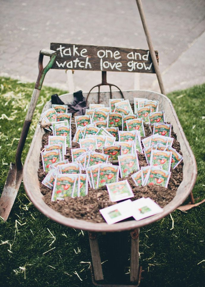 Love this display idea!! Or with different size/color pots on a table...