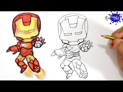 How to Draw Ironman Step by Step / Como Dibujar a Ironman  paso a paso / Easy art YouTube