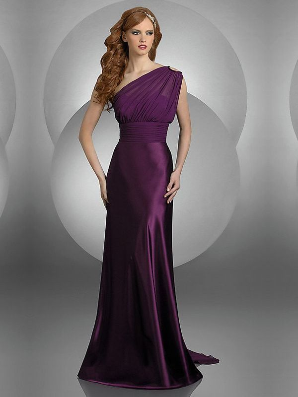 Choosing the Right Long Dresses for Wedding: Long Dresses For Wedding Satin Purple ~ Dresess Inspiration