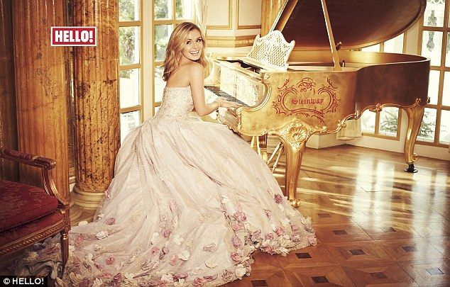 'She has enriched us as a couple': Katherine Jenkins stuns in floral gown as she reveals daughter Aaliyah has 'completed' her marriage to Andrew Levitas