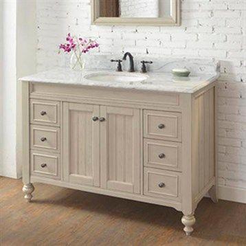 "Lowe's Bathroom Vanities with Countertops   Fairmont Designs Crosswinds 48"" Vanity - Slate Gray   Free Shipping"