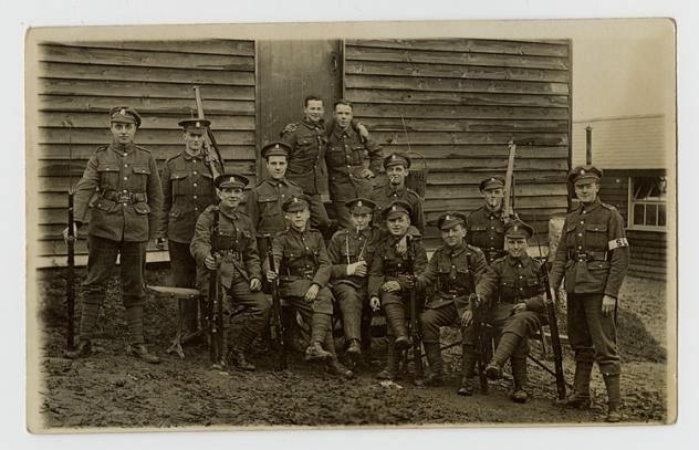 A Royal Welsh Fusiliers Platoon at Kinmel Camp, Bodelwyddan, 1916 | Peoples Collection Wales