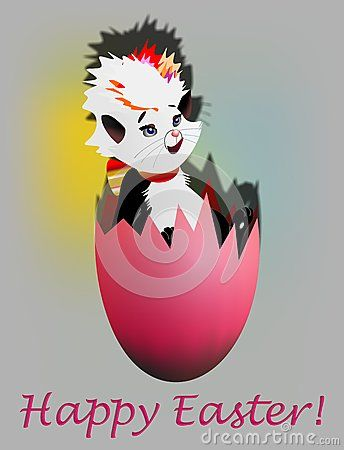 Easter And Cat In A Broken Egg - Download From Over 40 Million High Quality Stock Photos, Images, Vectors. Sign up for FREE today. Image: 65632793