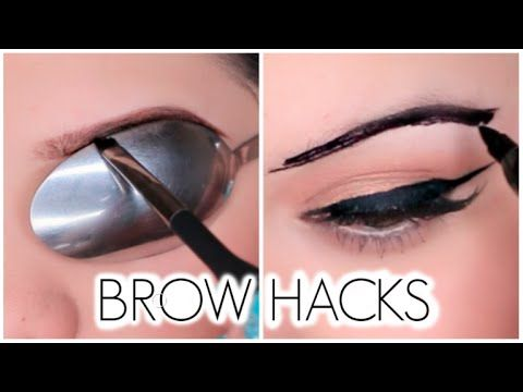 Brow Hacks! Karina's Life Hacks: http://youtu.be/JNbqow46uQY Tanya's Beauty Hacks: http://youtu.be/8Xi8Qe26DwU Ps ignore my cakey face... I had my makeup on ...