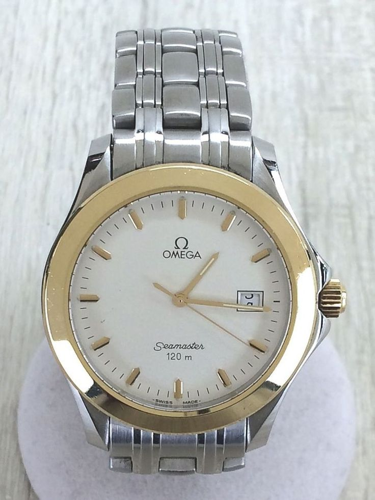 OMEGA Seamaster 120 Gold Bezel Quartz Wrist Watch Analog 2311.21 #OMEGA