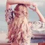 Fryzury  Blond włosy: Fryzury Długie Na co dzień Kręcone Upięcie Blond - Vv.O.sS - 3013603