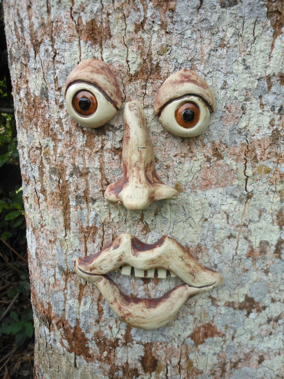 Stoneware Brown Eyed Tree Face by Uturn on Etsy, $30.00 ...