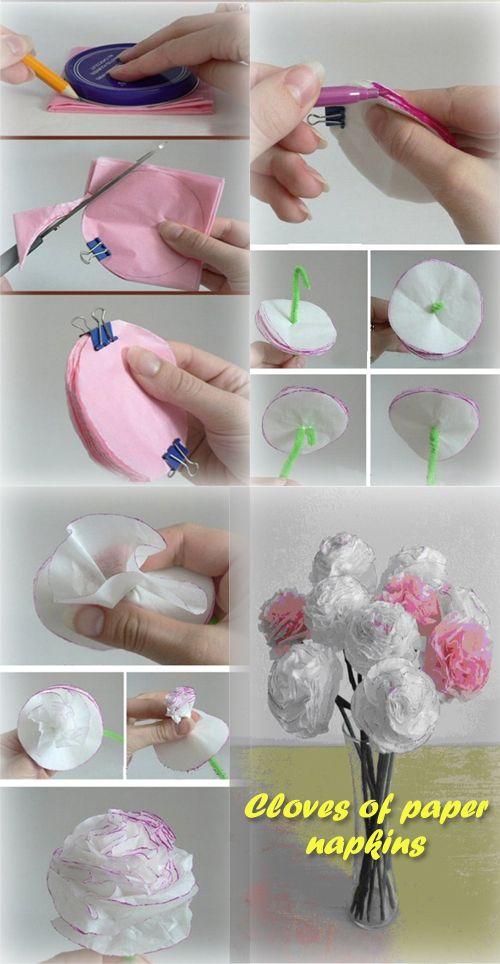 Cloves of paper napkins