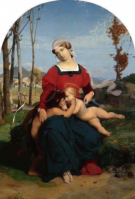 Мадонна с Младенцем и маленьким Иоанном Крестителем. Жан-Леон Жером.  1848, 108х75, Частное собрание.