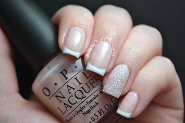 Nails by Kayla Shevonne: Picking My Wedding Nails! Choice #1 - Classic French with Glitter Accent
