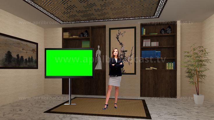 2D/3D green screen background best suited for a variety Education-based show