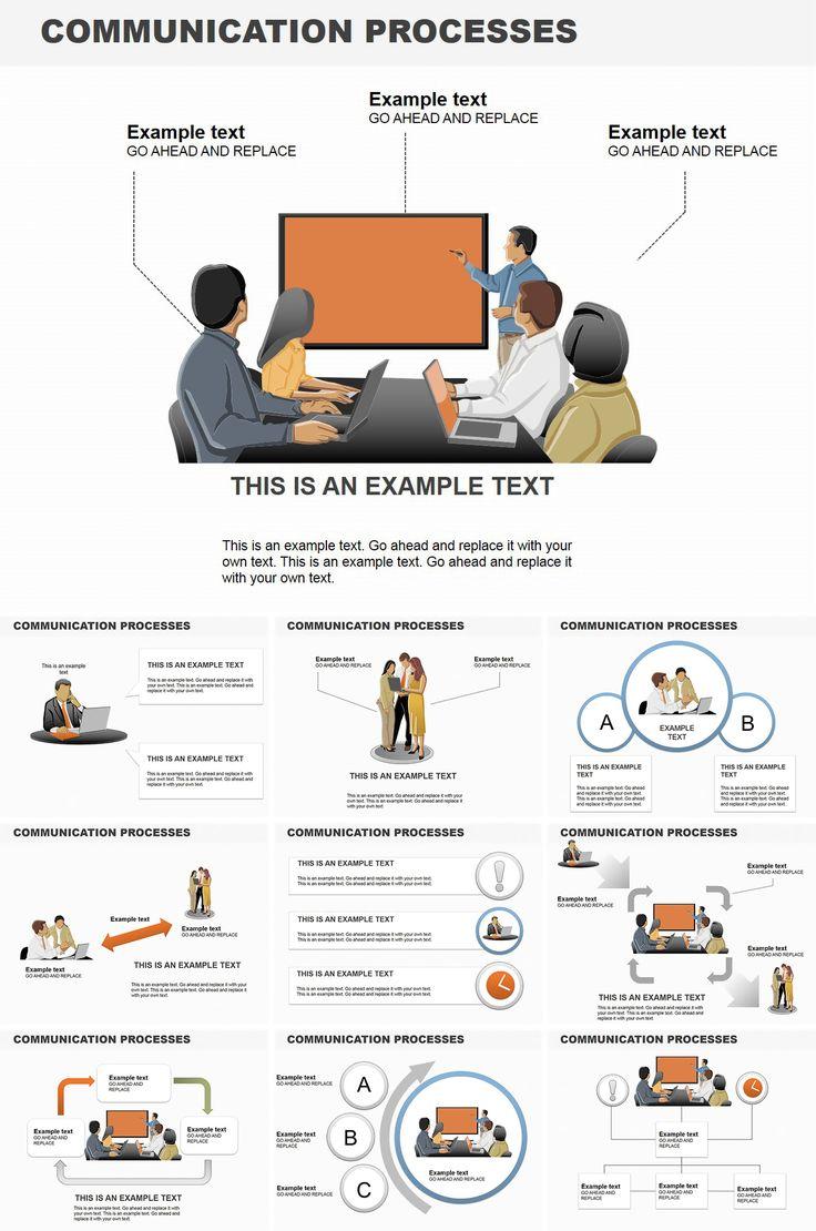 Communication Processes PowerPoint diagrams Presentation ...