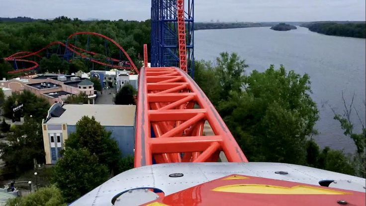 Superman the Ride Front Seat POV 2017 FULL HD Six Flags New England - YouTube