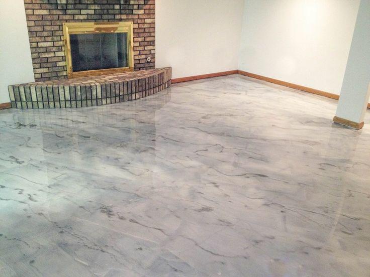 gray concrete staining rockford il illinois decorative concrete contractors pinterest. Black Bedroom Furniture Sets. Home Design Ideas