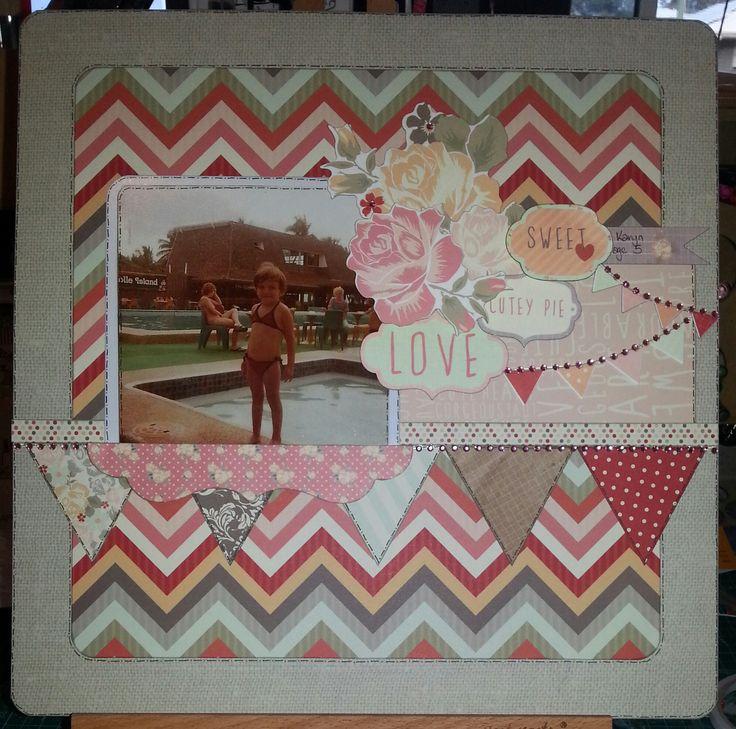 Kaisercraft Sweet Pea layout ~Karyn Watton