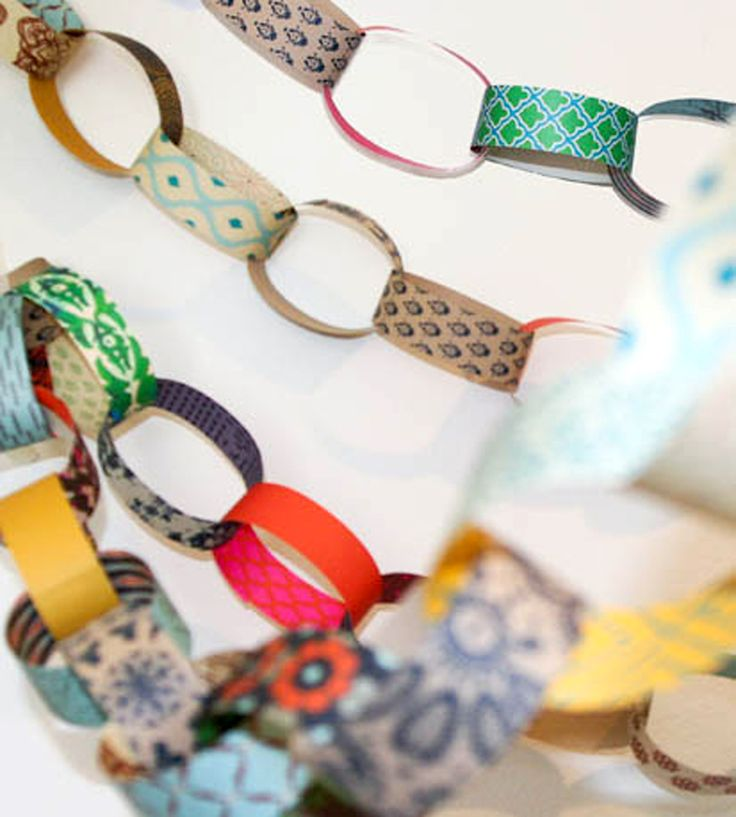 Paper Chain DIY Kit by MIXT Studio on Scoutmob Shoppe. All the colorful paper strips you need to create this festive number.