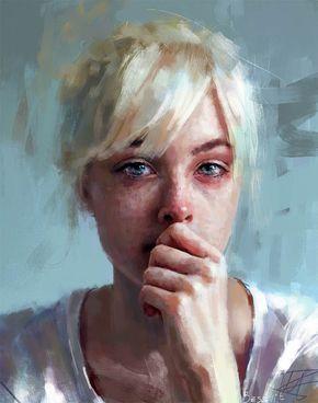 Impressio-realistische Portraits. Mehr ---> https://www.langweiledich.net/digital-paintings-ivana-besevic/