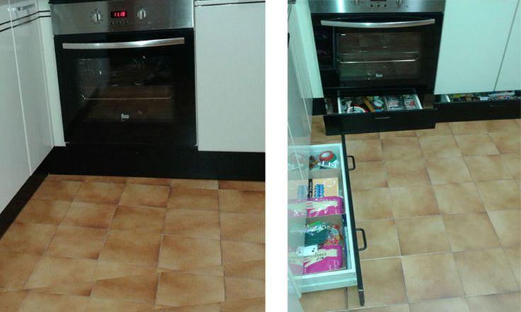 M s de 1000 ideas sobre cajones de la cocina en pinterest organizaci n de caj n de la cocina - Poner rodapie ...