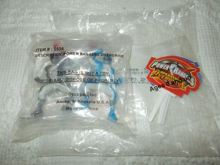 Power Rangers Operation Overdrive Cake Topper Decorating Kit New Sealed 2001 #decoset