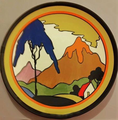 Mountain scenic plate Clarice Cliff