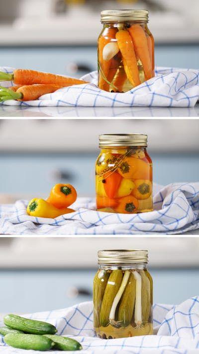 Fazer picles em casa com os seus legumes prediletos é mais prático e fácil do que você imagina!