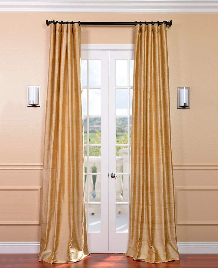 Textured Dupioni Silk 50 x 120 Curtain Panel