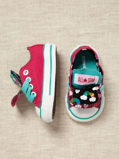 OMG if i ever have a girl she will so be wearing these!! Infant Chuck Taylor Rainbow Print by Converse on Gilt