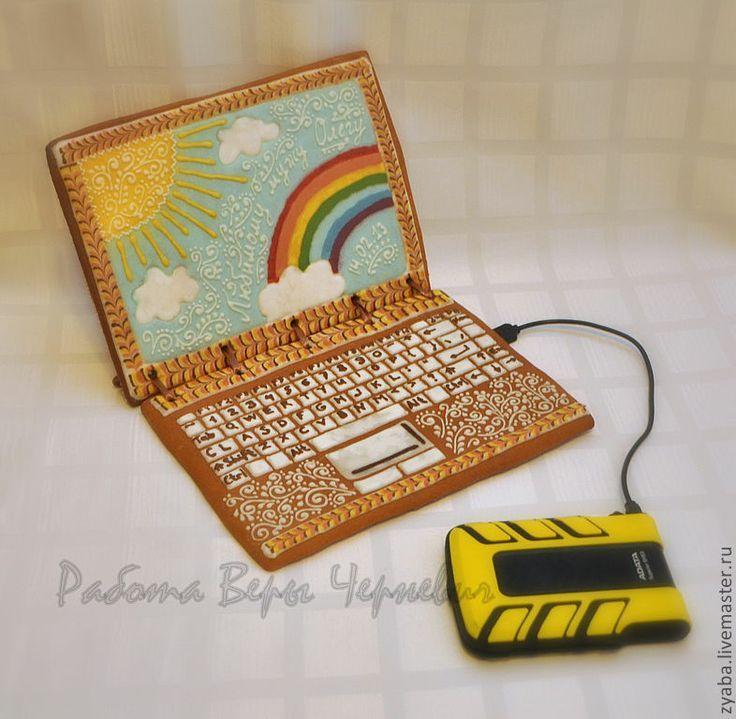 Прикольные, открытка в форме ноутбука