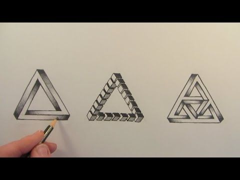 SUBSCRIBE: http://www.youtube.com/user/circlelinemedia Learn How to Draw The Impossible Triangle illusion 3-D, narrated step by step in this drawing tutorial...